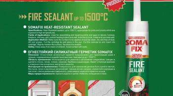 New product! Somafix Heat-Resistant Sealant!